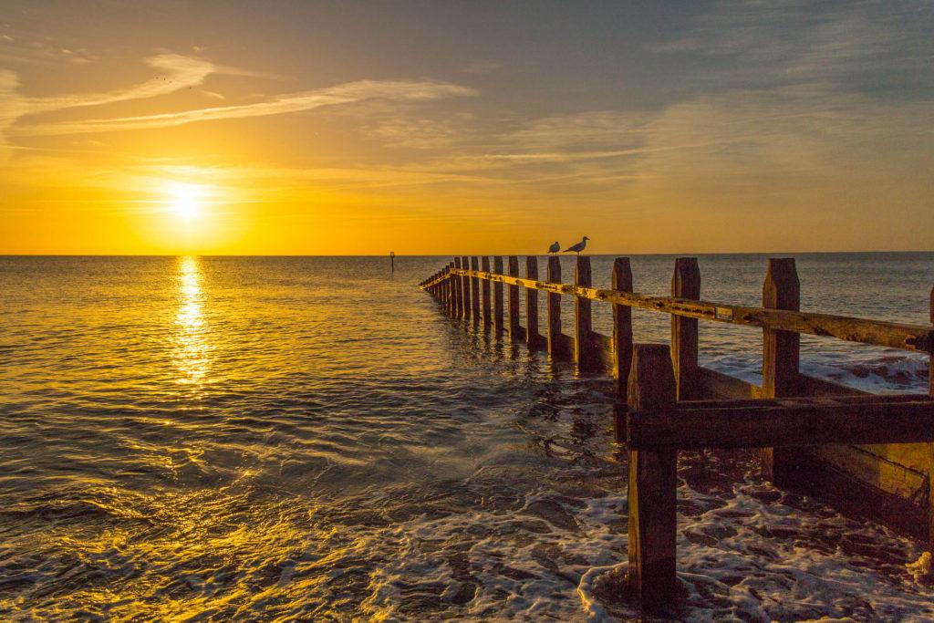 Dawlish Warren Beach Area sunset