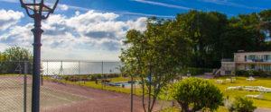 Tennis overlooking the Sea
