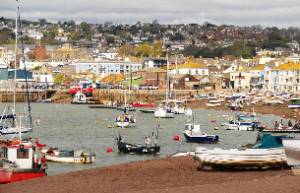 A view of Teignmouth Harbour