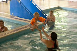 Swimming Family Baby Langstone Cliff Hotel